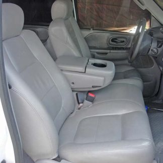 2001 - 2003 Ford F-150 40/60 Split Bench with Opening Console Seat Covers (Leather Interiors Only)
