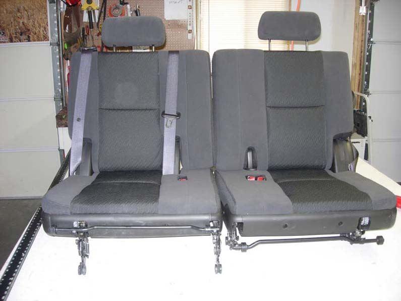 2007 2014 Gmc Yukon 3rd Row 50 50 Split Bench Seat Covers