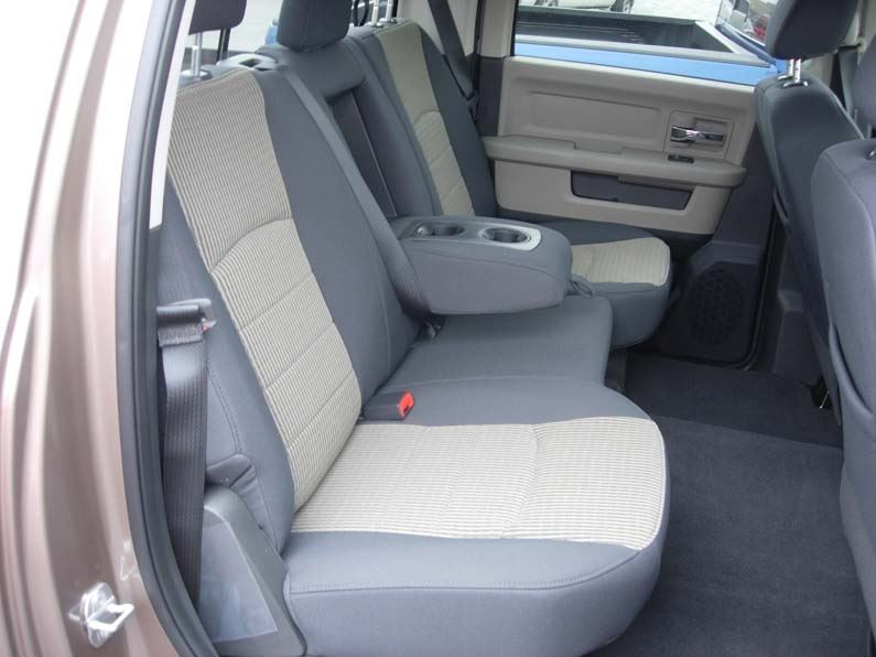 2009-2010 RAM Crew Rear 40/60 with Armrest Seat Covers