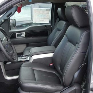 2011 - 2014 Ford F-150 Bucket Seats with Flow Thru Console Seat Covers