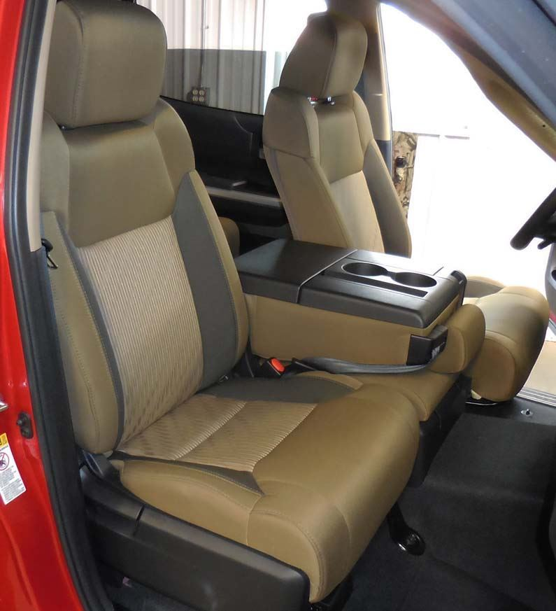 Toyota Tundra Seat Covers >> 2014 2019 Tundra 40 20 40 With Opening Consoles Seat Covers