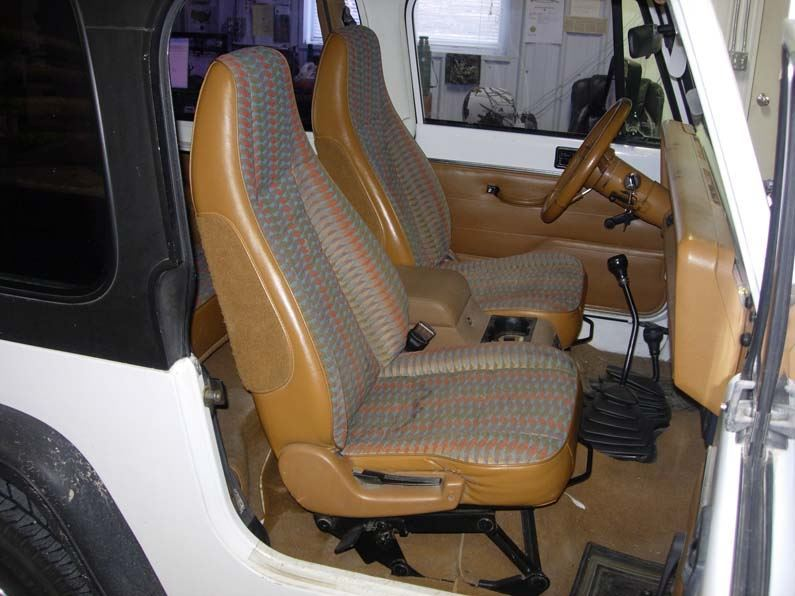 Jeep Wrangler Seat Covers >> 1992 1996 Jeep Wrangler Bucket Seat Covers