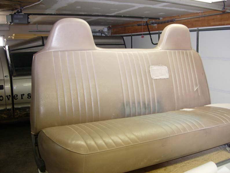 Admirable 1995 1998 Ford F 250 550 Bench With Integral Headrests Seat Covers Inzonedesignstudio Interior Chair Design Inzonedesignstudiocom