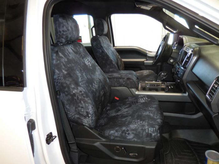 2016 F-150 with 13- Kryptek Typhon™ custom seat covers