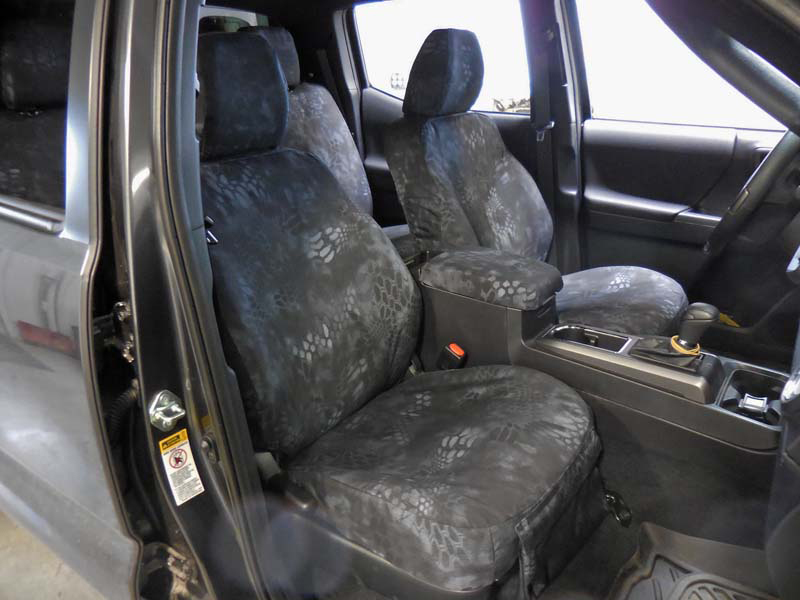 2016 Tacoma Front with 13- Kryptek Typhon™ custom seat covers